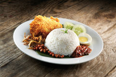 Asian food nasi lemak Royalty Free Stock Images
