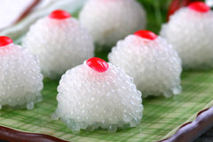 Asian food pearl cherry cake Stock Photos