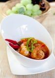 Asian food prawn curry Royalty Free Stock Photos