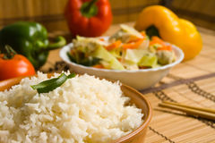 Asian food with rice stock photo
