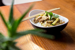 Asian food -Rice with chicken Royalty Free Stock Photo