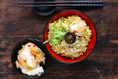 Asian food spicy ramen noodles stock photos