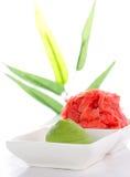 Asian food. Sushi.Wasabi and ginger. Stock Photo