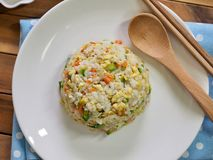 Asian food Vegetable egg fried rice royalty free stock photo