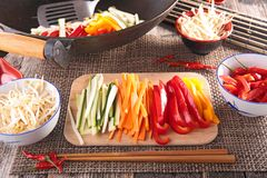 Asian food,wok Royalty Free Stock Images