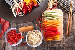 Asian food,wok Stock Images