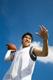 Asian football player Stock Photos