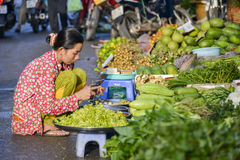 Asian Fresh Fruit And Vegetable Market Royalty Free Stock Image