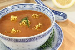 Asian fresh Lobster Bisque Royalty Free Stock Photography
