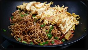 Asian Fried Noodle Stock Photos