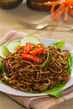 Asian fried noodle with traditional Stock Images
