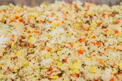 Asian fried rice with eggs Royalty Free Stock Photos