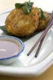 Asian fried vegetable cakes Stock Images