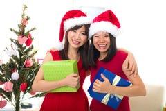Asian friend lifestyle christmas Royalty Free Stock Photos