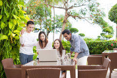 Asian Friends Outdoor Royalty Free Stock Photos