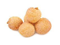 Asian fruit lichee isolated Stock Image