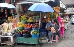 Asian fruit market Royalty Free Stock Photos