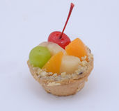 Asian fruit pie. Beautiful mini fruit pie indian street food dilsh studio white background Stock Photography