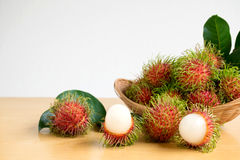 Asian fruit rambutan Stock Photo