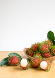Asian fruit rambutan Royalty Free Stock Photo