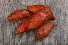 Asian fruit - sala. On the wood background Stock Photography