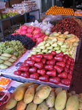 Asian Fruits. An Asian fruit stall at the side of the road. Featuring some of the yummiest selection of fruits we have royalty free stock photography