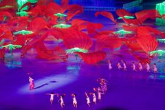 2010 Asian Games Opening Ceremony Guangzhou China stock photography