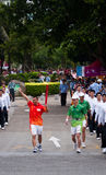 Asian Games torch relay in Guangdong Royalty Free Stock Photo