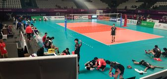 Asian Games 2018 Volleyball royalty free stock images