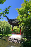 Asian garden. Pagoda and pond in an Asian garden Royalty Free Stock Photos