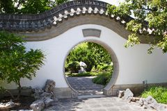Asian Garden Gate Royalty Free Stock Image