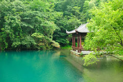 An Asian Gazebo at Tian Mu Shan China Royalty Free Stock Images