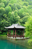 An Asian Gazebo at Tian Mu Shan China Stock Photography