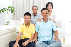 Asian 3 generations family Royalty Free Stock Images