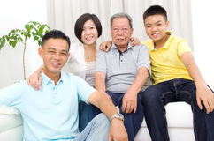 Asian 3 generations family Stock Photography