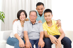 Asian 3 generations family Royalty Free Stock Photo