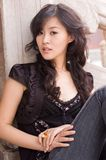 Asian girl. A Pretty asian girls outdoor royalty free stock photo