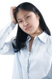 Asian Girl 6. Thoughtful Asian woman royalty free stock photography