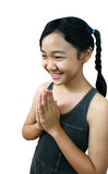 Asian girl. Young asian girl smiling royalty free stock photography