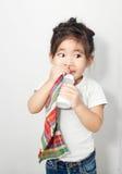 asian girl addict Stock Photo