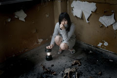 Asian girl alone Stock Image