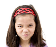 Asian Girl with Angry Face Stock Photos
