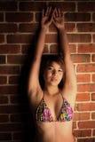 Asian girl in a bikini Royalty Free Stock Photos