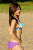 Asian girl in bikini Royalty Free Stock Image