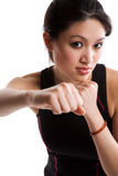 Asian girl boxing Royalty Free Stock Photo