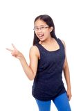Asian Girl in Braces Striking a Pose Stock Photo