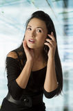 Asian girl calling Royalty Free Stock Images