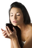 Asian girl calling Royalty Free Stock Image