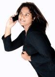 Asian girl calling Stock Photos