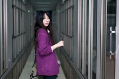 Asian girl in casual wear Stock Images